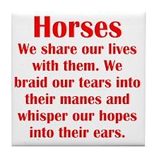 horses2 Tile Coaster