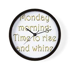morning-morning2 Wall Clock