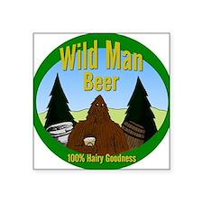 """Wild Man Beer Square Sticker 3"""" x 3"""""""