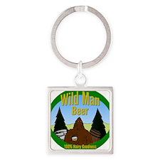 Wild Man Beer Square Keychain