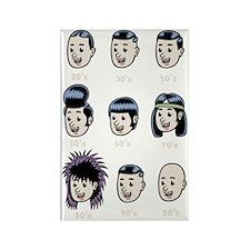 hair-history-DKT Rectangle Magnet