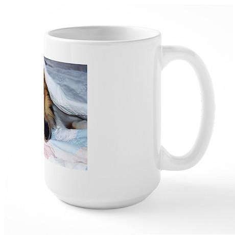 Blanket Collie Large Mug