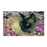 Cream siamese cat 3x5 Rugs