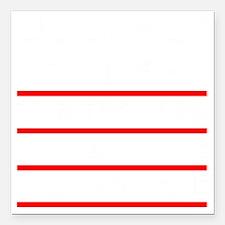 """LIBERALS_BLACK_FINAL Square Car Magnet 3"""" x 3"""""""