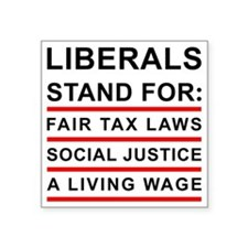 "LIBERALS_WHITE_FINAL Square Sticker 3"" x 3"""