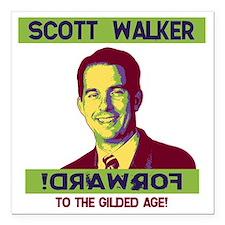 "walker-forward-LTT Square Car Magnet 3"" x 3"""