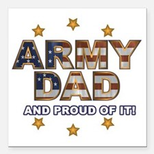 """ArmyDadProud Square Car Magnet 3"""" x 3"""""""