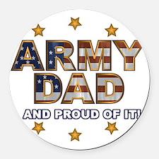 ArmyDadProud Round Car Magnet