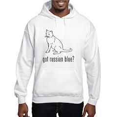 Russian Blue Hooded Sweatshirt
