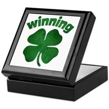 Winning Shamrock Keepsake Box