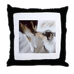 Kissing Collies Throw Pillow