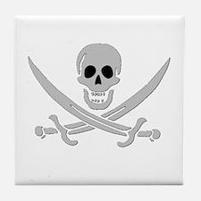 Skull & Crossed Swords Tile Coaster