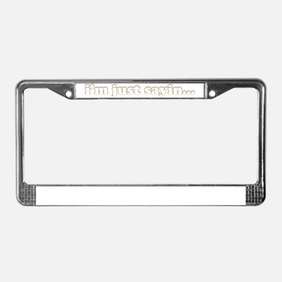 im just3 License Plate Frame