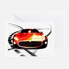 Maserati Front 2 Greeting Card