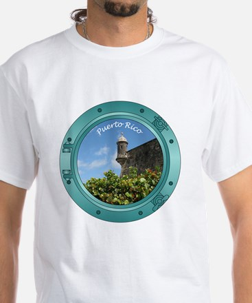 PortHole0002 White T-Shirt