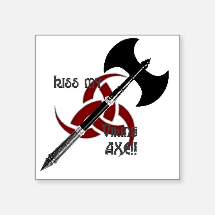 """vikingaxeshirt3 Square Sticker 3"""" x 3"""""""