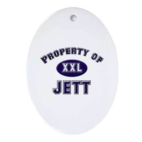 Property of jett Oval Ornament
