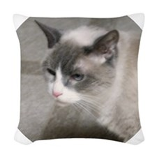 Dustyheadsidecrop Woven Throw Pillow