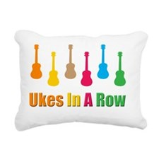 ukes, ukuleles, ukelele, Rectangular Canvas Pillow