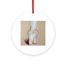 ballet shoes Round Ornament