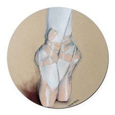 ballet shoes Round Car Magnet