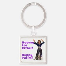 esther2 Square Keychain