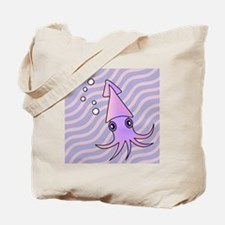Cute Pink and Purple Squid Tote Bag