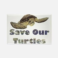 save-our-turtles Rectangle Magnet