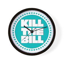 kill the bill aqua Wall Clock