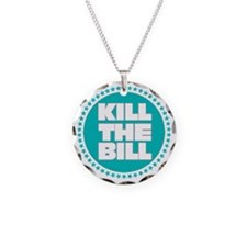 kill the bill aqua Necklace Circle Charm