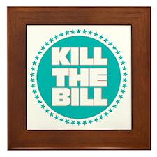 kill the bill aqua Framed Tile