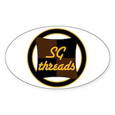 Threads custom Oval Decal
