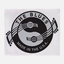 YinYangGuitarsTheBluesV1_825x10 Throw Blanket