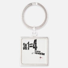 3-armed1 Square Keychain