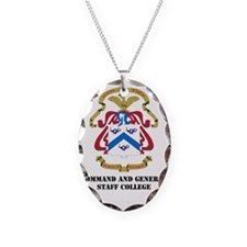 DUI-COMMAND AND GENERAL STAFF  Necklace Oval Charm