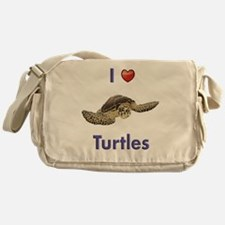 I-love-turtles-tall Messenger Bag