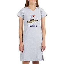 I-love-turtles-tall Women's Nightshirt