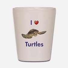 I-love-turtles-tall Shot Glass