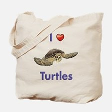I-love-turtles-tall Tote Bag