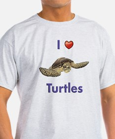 I-love-turtles-tall T-Shirt