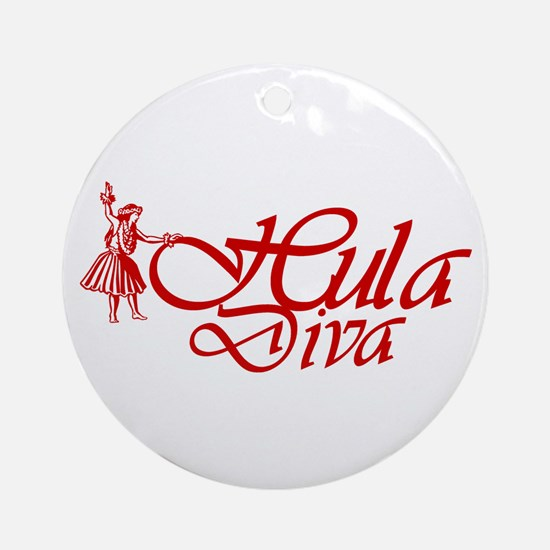 Hula Diva (A) Ornament (Round)