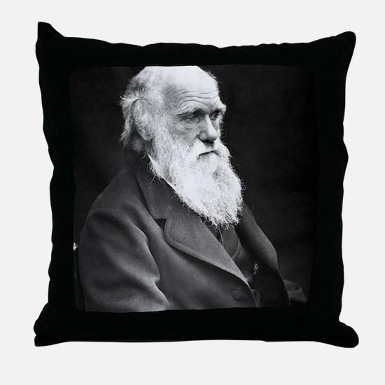 Darwin_mousematpng Throw Pillow