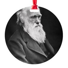 Darwin_mousematpng Round Ornament