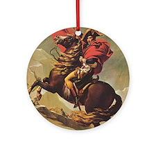 Jacques-Louis_David_Napoleon_ipad_7 Round Ornament