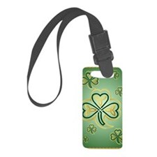 LargePoster Gold and Green Shamr Luggage Tag