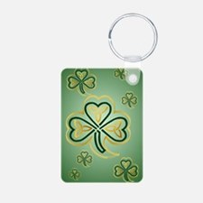LargePoster Gold and Green Keychains