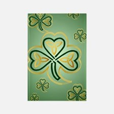 LargePoster Gold and Green Shamro Rectangle Magnet