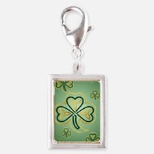 LargePoster Gold and Green S Silver Portrait Charm