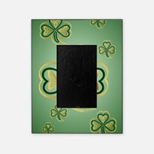 LargePoster Gold and Green Shamrocks Picture Frame