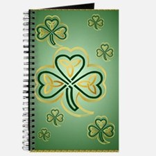 LargePoster Gold and Green Shamrocks Journal